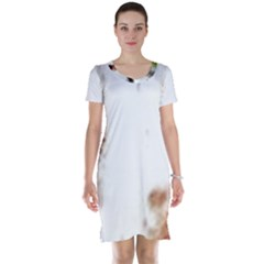 Spotted pattern Short Sleeve Nightdress