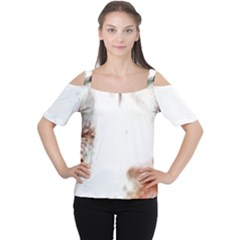 Spotted pattern Women s Cutout Shoulder Tee