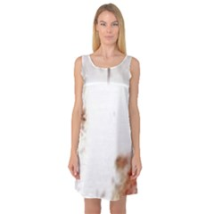 Spotted pattern Sleeveless Satin Nightdress