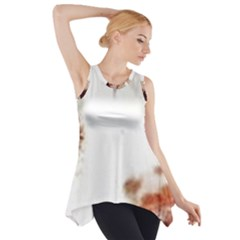 Spotted pattern Side Drop Tank Tunic