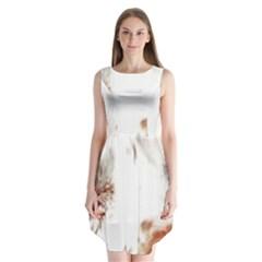 Spotted pattern Sleeveless Chiffon Dress