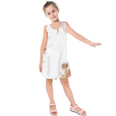 Spotted pattern Kids  Sleeveless Dress