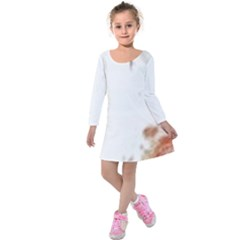 Spotted pattern Kids  Long Sleeve Velvet Dress