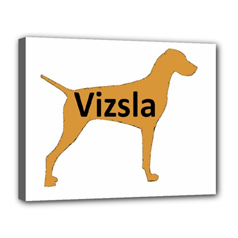 Vizsla Name Silo Color Canvas 14  x 11