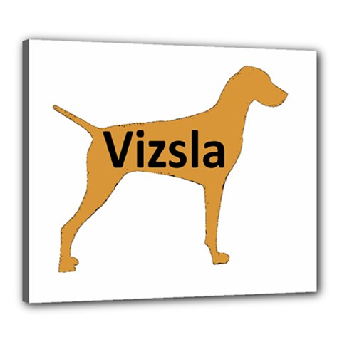 Vizsla Name Silo Color Canvas 24  x 20