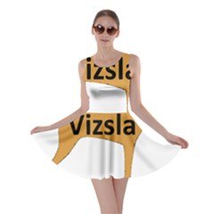 Vizsla Name Silo Color Skater Dress