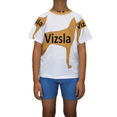 Vizsla Name Silo Color Kids  Short Sleeve Swimwear