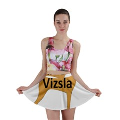 Vizsla Name Silo Color Mini Skirt