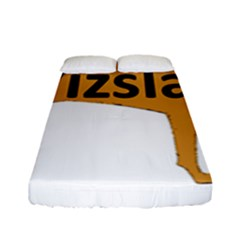 Vizsla Name Silo Color Fitted Sheet (Full/ Double Size)