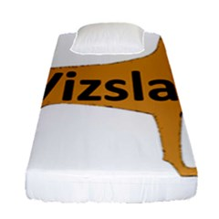 Vizsla Name Silo Color Fitted Sheet (Single Size)