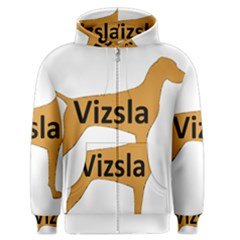 Vizsla Name Silo Color Men s Zipper Hoodie