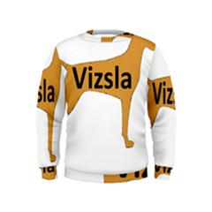 Vizsla Name Silo Color Kids  Sweatshirt