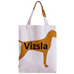 Vizsla Name Silo Color Zipper Classic Tote Bag