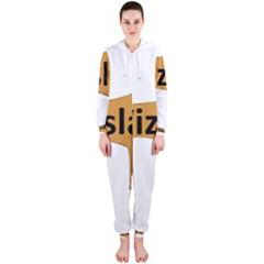 Vizsla Name Silo Color Hooded Jumpsuit (Ladies)