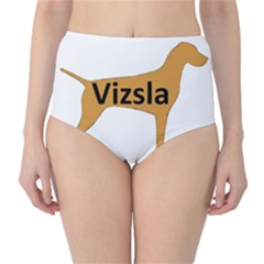 Vizsla Name Silo Color High-Waist Bikini Bottoms