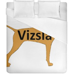 Vizsla Name Silo Color Duvet Cover (California King Size)