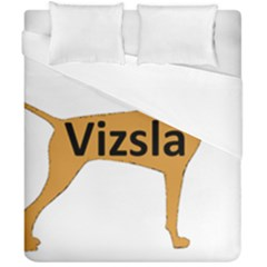 Vizsla Name Silo Color Duvet Cover Double Side (California King Size)