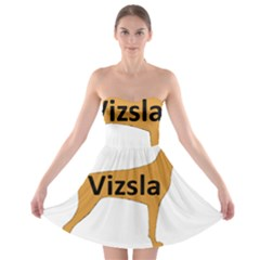 Vizsla Name Silo Color Strapless Bra Top Dress