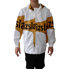 Vizsla Name Silo Color Hooded Wind Breaker (Kids)