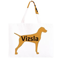 Vizsla Name Silo Color Large Tote Bag