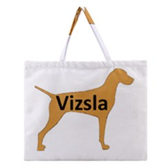 Vizsla Name Silo Color Zipper Large Tote Bag