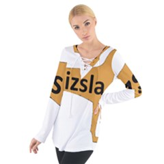 Vizsla Name Silo Color Women s Tie Up Tee
