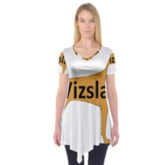 Vizsla Name Silo Color Short Sleeve Tunic