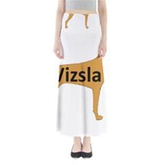Vizsla Name Silo Color Maxi Skirts