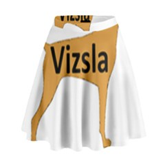 Vizsla Name Silo Color High Waist Skirt