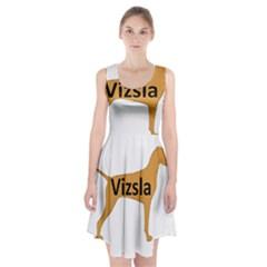 Vizsla Name Silo Color Racerback Midi Dress