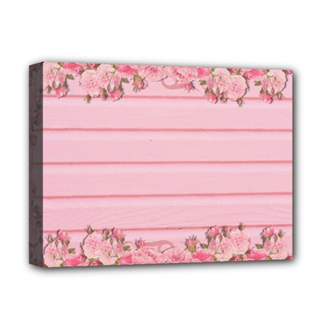 Pink Peony Outline Romantic Deluxe Canvas 16  x 12
