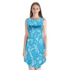 Pattern Sleeveless Chiffon Dress