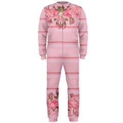Pink Peony Outline Romantic Onepiece Jumpsuit (men)
