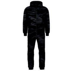 Dark Lake Ocean Pattern River Sea Hooded Jumpsuit (Men)