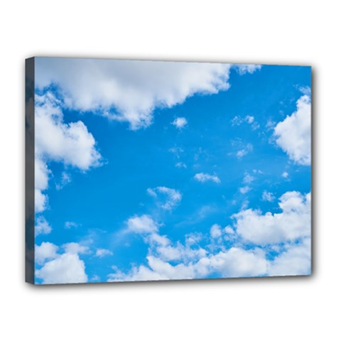 Sky Blue Clouds Nature Amazing Canvas 16  x 12