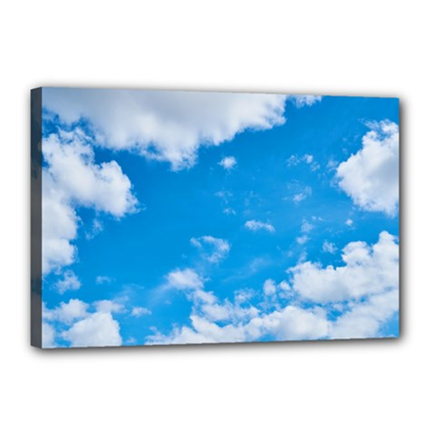 Sky Blue Clouds Nature Amazing Canvas 18  X 12