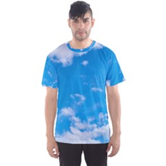 Sky Blue Clouds Nature Amazing Men s Sport Mesh Tee