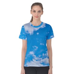 Sky Blue Clouds Nature Amazing Women s Cotton Tee