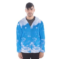Sky Blue Clouds Nature Amazing Hooded Wind Breaker (Men)