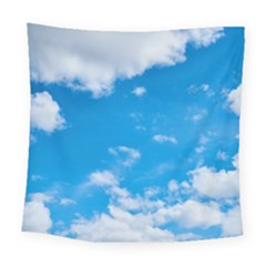 Sky Blue Clouds Nature Amazing Square Tapestry (large)