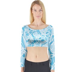 Pattern Long Sleeve Crop Top