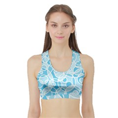 Pattern Sports Bra with Border