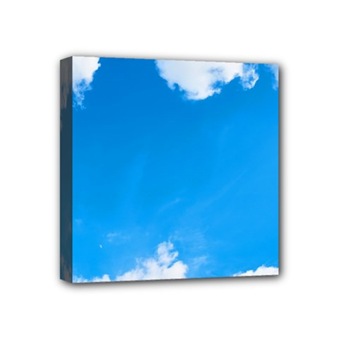Sky Clouds Blue White Weather Air Mini Canvas 4  X 4