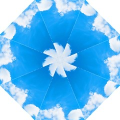 Sky Clouds Blue White Weather Air Hook Handle Umbrellas (Large)
