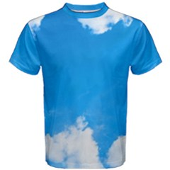 Sky Clouds Blue White Weather Air Men s Cotton Tee