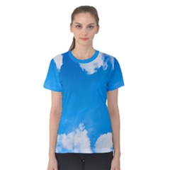 Sky Clouds Blue White Weather Air Women s Cotton Tee