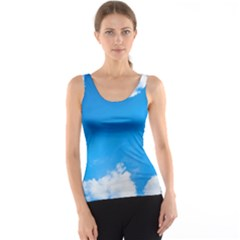Sky Clouds Blue White Weather Air Tank Top