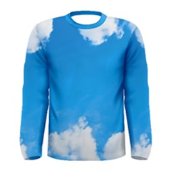 Sky Clouds Blue White Weather Air Men s Long Sleeve Tee