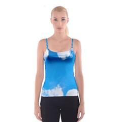 Sky Clouds Blue White Weather Air Spaghetti Strap Top