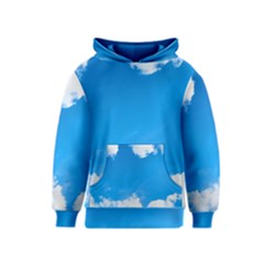 Sky Clouds Blue White Weather Air Kids  Pullover Hoodie